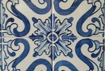 Azulejos / Tile used to decorate the walls-both interior and exterior-of homes and churches in Portugal.