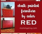 Red chalk paint