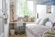 Long narrow bedroom