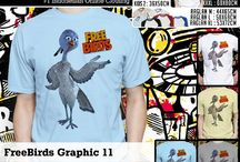 Kaos FREE BIRDS  |   FREE BIRDS tees / if you are interested about the t-shirt and you want to buy it, now available on ebay here it is the link  http://www.ebay.com/itm/181263110491?ssPageName=STRK:MESELX:IT&_trksid=p3984.m1555.l2649