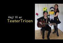 TeaterTrioen / Selvom det var en temmelig våd fornøjelse at optræde til 'Stafet for livet' på Nørrebro ☔, var der nogle seje og modige Fightere der så og deltog i den Interaktive fortælleteater forestilling 'Nangijala'  De fik taget disse pragtfulde billeder med Kemo Kasper