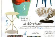 Rassegna Stampa / alcune pubblicazioni con i miei complementi in ceramica