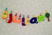 Nombres para tu bebé / Todo hecho a mano