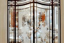 двери / Двери, традиционные, деревянные, с стеклом, межкомнатные