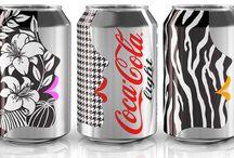 Arte em latinha de refrigerante e cervejas