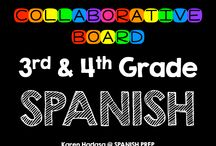3rd & 4th Grade Spanish Collaborative Board / A Third & Fourth Grade Spanish collaborative board. Want to join this board? Follow me. Then send me an email with your Pinterest url at spanishprep@gmail.com *Limit yourself to three freebie/paid products per day!*