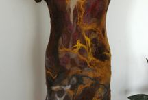 Clothes made of felt,felted