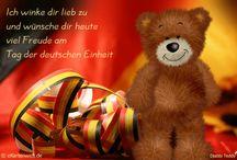 Grußkarten zum Tag der Deutschen Einheit / Grußkarten, eCards mit Teddys und anderen Motiven