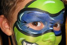 Face Painting / All kinds of  faces painted beautifully, interestingly and inspiring