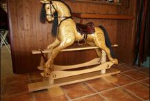 How to make a rocking horse / I work with leather for a living. I carve wood for a hobby. Join the two and you have a rocking horse for my granddaughter.