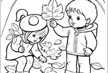 Coloring pages Autumn/Fall