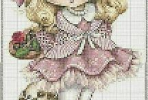 Littlr girl crossstich