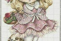 Littlr girl crossstich