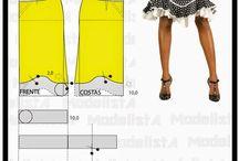 スカートの型紙