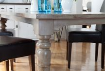 Good Residence - own home / Painted Timber Dining Table Ideas
