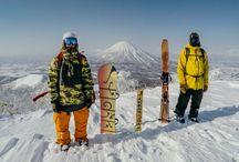 Snowboard x Ski <3 / I can be alone when snowboarding.