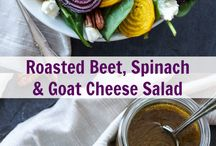 Roasted beet, spinach and gots cheese