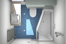 Kleine badkamer / Tekeningen, voorbeelden