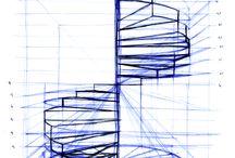 merdiven cizimi