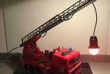 Slaapkamer brandweer