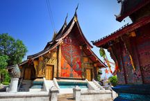 Temples in Luang Prabang / Luang Prabang has a dense concentration of temples, also known as 'wats' in Laos' language. All under the protection as UNESCO's World Heritage site, these 34 wats are also home to more than 1,000 monks.
