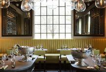 hotel and restaurant interiors