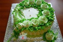 zelený dort