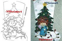Bota y moldes árbol de navidad