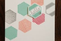 SU Six Sided Sampler Bundle / Cards made with the Stampin' Up! stamp set Six-Sided Sampler and the Hexagon punch