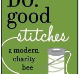 CHERISH - Do Good Stitches Bee Blocks / Blocks made by me for CHERISH Do Good Stitches Bee group