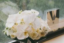 Classic White Wedding / Nothing says classic and upscale like white! Phalaenopsis orchids, white delphinium, and hydrangea create the base for this gorgeous Manhattan wedding.