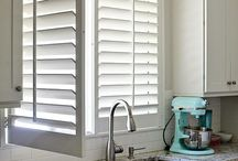 Plantation shutters in the kitchen / Plantation shutters are ideal for the kitchen allowing lignt to stream in