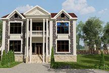 3D-проекты по фасадному декору / Оформление фасадов зданий с использованием декоративной лепнины