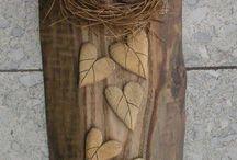 keramika dřevo
