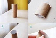 Prace z rolek po papierze toaletowym
