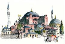 Istanbul illustrations aquarelles gravures photografies / Magnifique