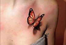 Butterflies, Lady Bugs, Dragonfly tattoos