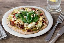 Pizza ,Flammkuchen und Tarte / und Flammkuchen