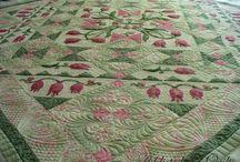 Tulip Delight / My bed quilt pattern Tulip Delight