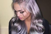 Silver hair extension