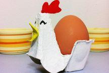 Äggkartonger och toarullar