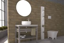 "PURE WOOD /  ""PURE WOOD"" BATHROOM FURNITURE,home,new,interior design,accesories,set,new,style,bath,tiles,product,idea,decoration,woman,mirror,porcelain,επιπλο μπανιου,μπανιο,νιπτηρας,καθρεπτης,πλακακια,idea,spa,architecture,decoration, BLACK,white , GREY,MODERN"