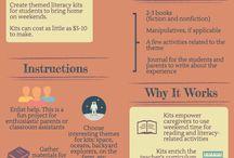 Literacy Activities: Preschool/Pre-K / Infographics. Free or inexpensive literacy activities for preschool or pre-k classrooms.