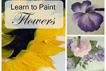 How to paint flowers one stroke at a time