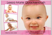 Newborn Baby Girl Photo Magnets