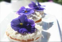 Cakes & Pastry with BloomBites / Creëer, varieer & verras door je cupcakes, taarten en gebak op te fleuren met eetbare bloemen van BloomBites