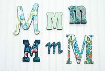 Crafty | Monograms / by Tammy @ Not Just Paper and Glue