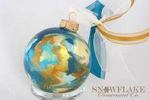 Topaz Glass Ornament