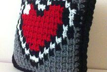 Tunisian crocheting / Koukkuaminen: Ideoita ja inspiraatiota
