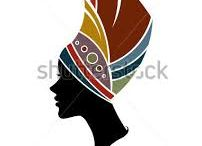 silhuetas africanas